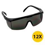 4ff37b51ab70f Kit 12 Óculos De Segurança Lentes Anti Risco Jaguar Preto