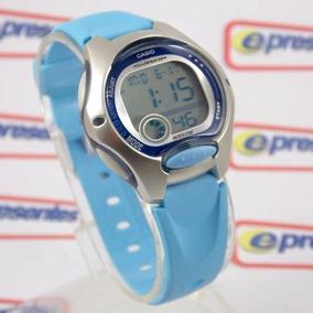 f303743ae76 Lw-200-2bv Relogio Casio Digital Feminino Pequeno Azul Claro. R  184 45