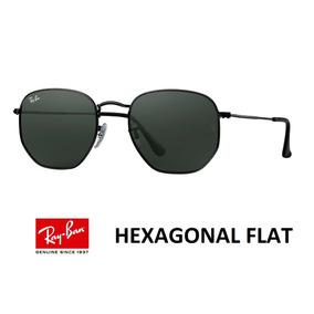 Oculos Rayban Hexagonal Original Preto - Óculos no Mercado Livre Brasil f28bf13222