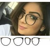 ec03890fc1d9e Óculos Feminino Armação P  Grau Redonda Quadrada Vintage Dio