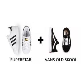 830c7a3b337 Kit Tênis Vanns Old Skool + Adiidas Suparstar - Promoção
