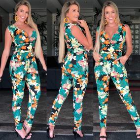 Macacão Macaquinho Regata Feminino Moda Blogueira