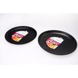 Pizzera Teflon Guadix 35cm Antiadherente Molde Pizza Set X 2