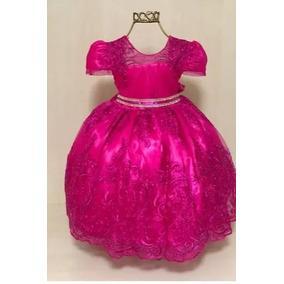 Vestido Infantil Festa Luxo Princesa Realeza Pink 2135