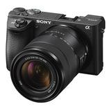 Cámara Digital Sony Alpha A6500 + Lente 18-135 Mm Video 4k