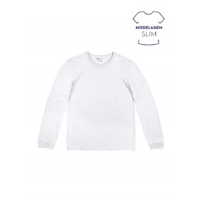 Camiseta Hering Masculina Básica Slim Com Manga Longa 411cd175cbf