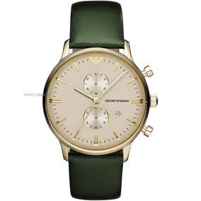 Relógio Emporio Armani Dourado Fundo Cor Madre Pérola Ar2016 - Joias ... 859f9257b5