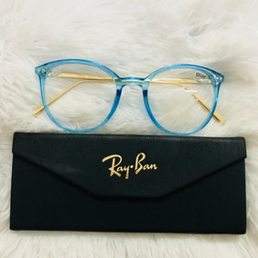 Armacao Feminina - Óculos Azul claro no Mercado Livre Brasil c57c8f4b55