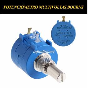 Potenciômetro Multivoltas 5k 3590s-2-502l Bourns Eletrônica