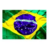 Bandeira Do Brasil 1,50 X 0,90 Com Encaixe Para Bastão