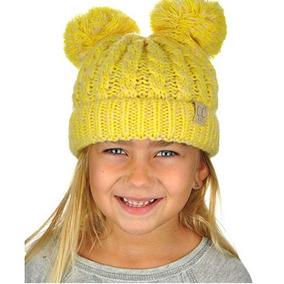Gorro De Invierno Para Niñas Y Niños Con Pompones Tone Lemon 0cf69cf79f1