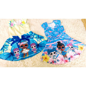 Vestido Infantil Tecido Neoprene