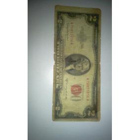 Nota De Dois Dolares Serie Vermelha De 1953