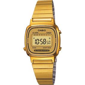 Reloj Casio Vintage Clásico Led Ambar