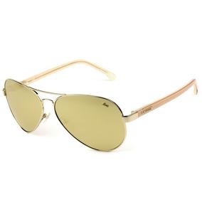 4d747af9a3408 Oculos Dourados De Sol Lacoste - Óculos no Mercado Livre Brasil