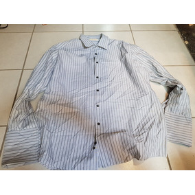 Camisa Gris Michel Kors 17 Y Medio - 34 - 35 Mancuernillas