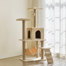 Casa Cama 2 Torres Arranhador Rede Gatos Gigante! Completa