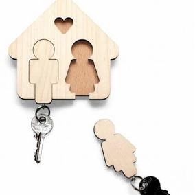 Kit 100 Casinhas Porta Chave Casal Personalizado Casamento