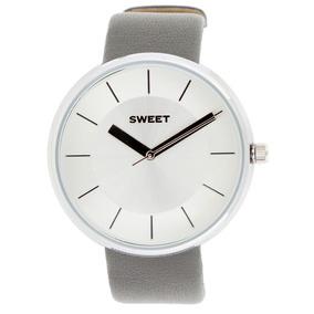 Reloj Sweet 7240g Acero Malla Cuero Gtia 12m. Tienda Oficial