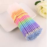 Set De 10 Repuestos Colores Gel Rainbow Para Pluma Kawaii