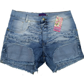 Roupas Femininas Shorts Jeans Plus Size Com Lycra 34 Ao 54