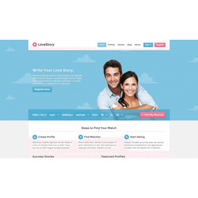 Site De Namoro E Encontros Tema Wordpress Script Lovestory