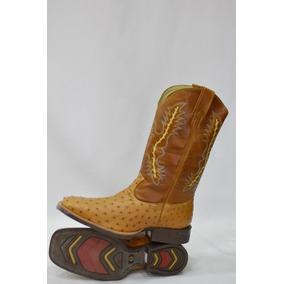 Bota Country Texana Bico Quadrado Avestruz Classic Confort 7c0da999a77