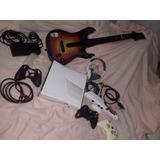 Xbox360 Slim Con Kinnect, Controles, Guitarra Y Juegos
