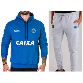 21006d971723a Blusa Moletom Cruzeiro - Moletom Masculinas Azul no Mercado Livre Brasil