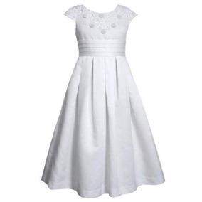 Vestido Ropón Confirmación Comunión Niña Jovencita Blanco
