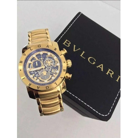 a79ded2efef Relogio Bvlgari Skeleton Azul - Relógio Bvlgari Masculino no Mercado ...