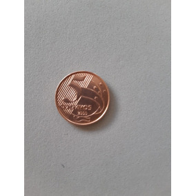 Moeda Reverso Invertido 5 Centavos Ano 2000 Mbc