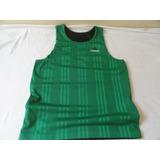 9942435904 Camisa Regata adidas Verde E Preto Dupla Façe.veste Tam.p