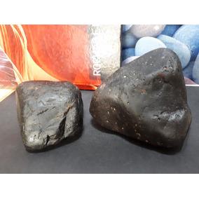 Lote 02 Pedras Negras Rochas De Vulcão 1596g Naturais Brutas