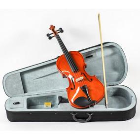 Viola De Arco Brilho Estojo Arco Breu Custom Strauss