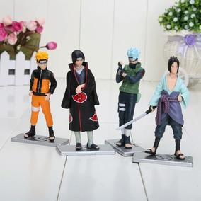 Kit Com 4 Bonecos (naruto, Sasuke, Itachi Kakashi