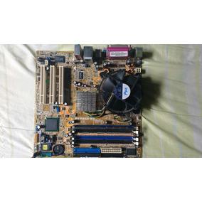 Placa Mãe Asus P5p800-mx Com Processador Pentium 4