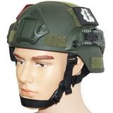 Capacete Tático Mich2000 Militar Verde Airsoft E Paintball
