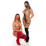 Mini Fantasia Ninja Il Sensual Erótica 50 Tons Pimenta Sexy
