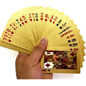 Baralho Dourado Poker Cartas Jogos Lançamento Frete Gratis