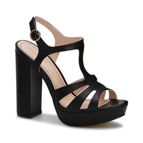 8a3bd1575fb Sandalias Andrea Mod 5600 Negro Piel Tacon 5.5 Cm Mdn - Zapatos en ...