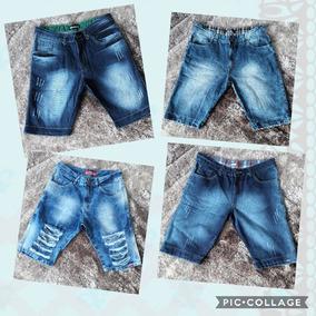 Kit 3 Bermudas Jeans Multimarcas Material Top Atacado