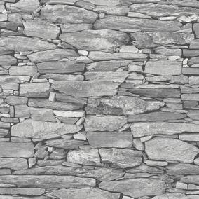5183734cd9ec5 Papel Tapiz Moderno Piedra Ladrillo Texturizado Lavable 5m2
