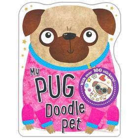 Pug Livro Para Colorir Pugs Mais De 100 Adesivos Pug Doodle
