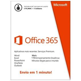 Office 365 + 1tb Onedrive + Skype 60min - 1 Ano - Original