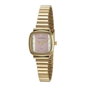 6980e27e7df Relogio Masculino Dourado Retangular - Relógios no Mercado Livre Brasil