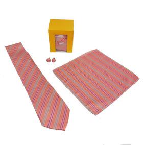 Paquete De 3 - Corbata, Mancuernillas Y Pañuelo Hugo Boss