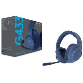 Fone Headset Gamer G433 Surround 7.1 Pc Logitech G Azul