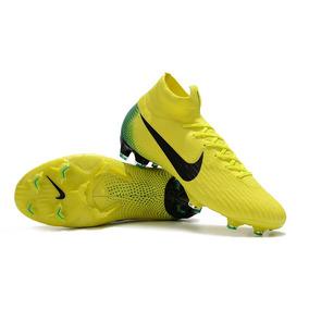 Chuteira Nike Mercurial Amarelo E Verde Frete Gratis - Chuteiras ... 9a8ec35f19dff