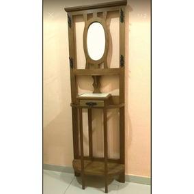 Chapeleiro Espelho Oval Para Hall De Entrada Ou Quarto